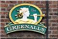 SJ9594 : Greenall's Est 1762 by Gerald England
