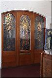 TQ2976 : St Paul, Clapham - South chapel door by John Salmon