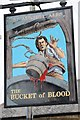 SW5638 : The Bucket of Blood inn sign by Philip Halling