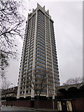 TQ2779 : Basil Spence's tower at Hyde Park Barracks, London by PAUL FARMER