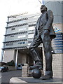 NZ2464 : Sir Bobby Robson Statue, St James' Park, Newcastle by Andrew Curtis