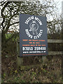 TM2665 : Saxtead Bottom Riding Stable sign by Adrian Cable
