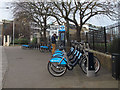 TQ3681 : Cycle docking station, south end of Mile End Park by Stephen Craven