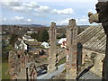 NT5434 : Melrose Abbey: looking west from roof of south transept by Jonathan Hutchins
