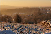 SK2168 : Bakewell, church and town at dawn by Peter Barr