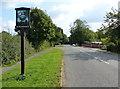 SK6405 : Scraptoft village sign along Scraptoft Lane by Mat Fascione