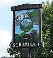 SK6405 : Scraptoft village sign by Mat Fascione