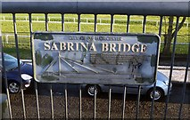 SO8455 : Plaque on Sabrina Bridge, Henwick, Worcester by P L Chadwick