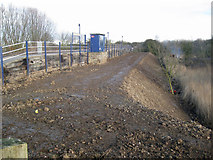 TA0623 : Flood Bank Renovation Works at Barrow Haven Station by David Wright