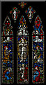 TQ5643 : Stained glass window, St Lawrence church, Bidborough by Julian P Guffogg