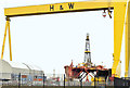"J3575 : The ""Byford Dolphin"", Harland & Wolff, Belfast - January 2015(2) by Albert Bridge"