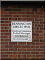 TM2866 : Dennington Jubilee Hall sign by Adrian Cable