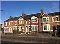 SJ8545 : Newcastle-under-Lyme: villas on London Road by Jonathan Hutchins