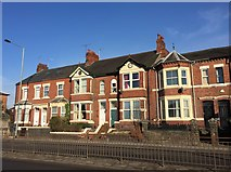 SJ8545 : Newcastle-under-Lyme: villas on London Road by Jonathan Hutchins