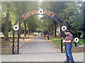 SP1179 : Entrance to Shirley Park, Stratford Road, Shirley by Robin Stott