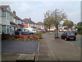 SP1179 : Bend at the west end of Welford Road, Shirley by Robin Stott