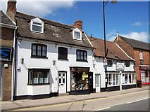 TF0920 : Historic shops in South Street, Bourne, Lincolnshire by Rex Needle