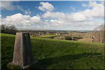 ST5906 : Trigpoint, Bubb Down Hill by Becky Williamson