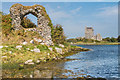 M3710 : Ruin and Dunguaire Castle by Ian Capper