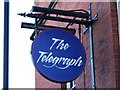 NZ2463 : Sign for The Telegraph, Forth Street / Orchard Street, NE1 by Mike Quinn