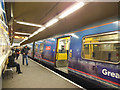 TQ3281 : Terminating train at Moorgate by Stephen Craven