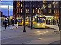 SJ8397 : Trams at St Peter's Square by David Dixon