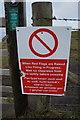 SS1198 : MOD notice at Penally Range by Ian S