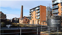 SK3588 : Old and new Sheffield at Kelham Island Museum by Jeremy Bolwell