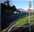 SO0002 : End of the Cardiff Road pavement in Aberdare by Jaggery