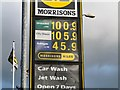 SJ9595 : Fuel prices at Morrisons by Gerald England