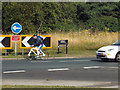 SP3064 : Think bike! Queensway roundabout, south Leamington by Robin Stott