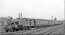 TQ1885 : Special local train from Euston at Wembley Central on Cup Final Day, 1962 by Ben Brooksbank