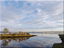 NH5658 : The Dingwall Canal enters the Cromarty Firth by Julian Paren