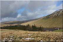 SN9817 : View over the Taf Fawr valley and Beacons Reservoir by Gareth James