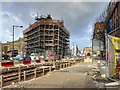 SJ8498 : Metrolink Work on Corporation Street (Second City Crossing) by David Dixon