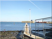 SY6874 : Castletown, jetty by Mike Faherty