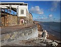 SX9676 : Coast path at Dawlish Station by Derek Harper