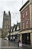 SJ3350 : Wine Bar and Wrexham Church by Row17
