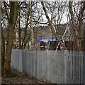 SE2436 : New fence for new Kirkstall Forge station by Rich Tea