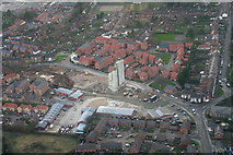 TF3387 : 3rd and final phase of the demolition of the Louth Malt Kiln: aerial 2015 by Chris