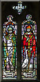 SK9324 : Stained glass window, St John the Baptist church, Colsterworth by J.Hannan-Briggs