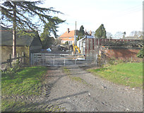 TQ9963 : New gate, Luddenham Court Farm by John Baker