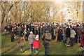 SJ6452 : Spectators at Mill Island, Nantwich by Jeff Buck