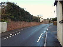 SX9473 : North and uphill on Dawlish Road A379, Teignmouth by Robin Stott