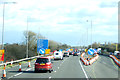 SP9437 : Contraflow on the M1 southbound by JThomas