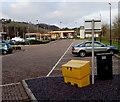 ST2999 : Yellow box and black bin, Lower Mill Field, Pontypool by Jaggery