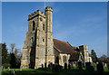TQ5446 : St Mary's church, Leigh by Julian P Guffogg
