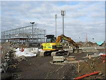 TQ7769 : Construction on Pier Road. by David Anstiss
