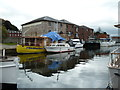 SX9291 : Exeter Canal Basin by Chris Allen