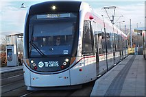 NT1772 : Tram arriving at The Gyle by Jim Barton